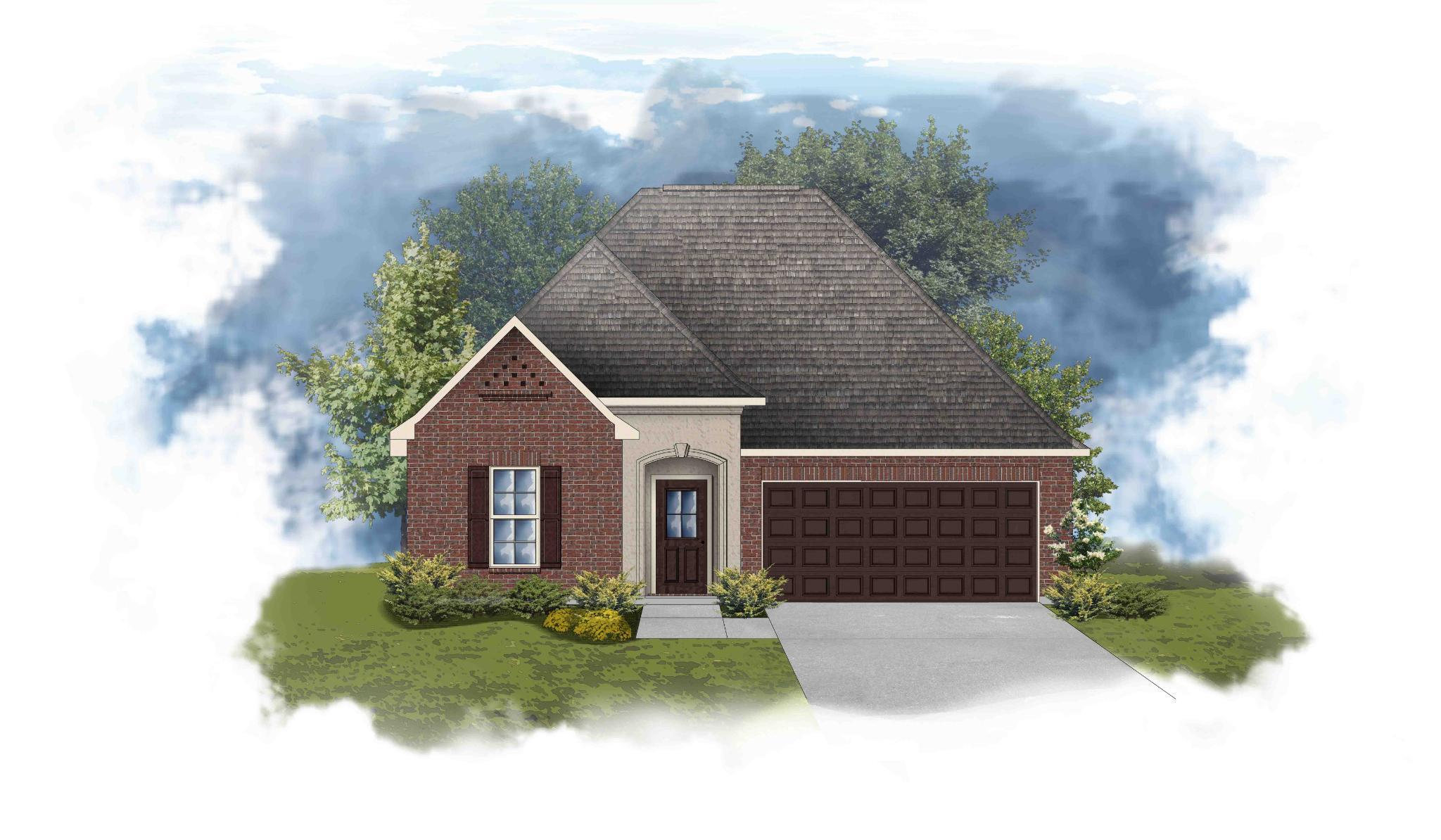 Exterior featured in the Trillium III A - Trinity Bluff By DSLD Homes - Louisiana