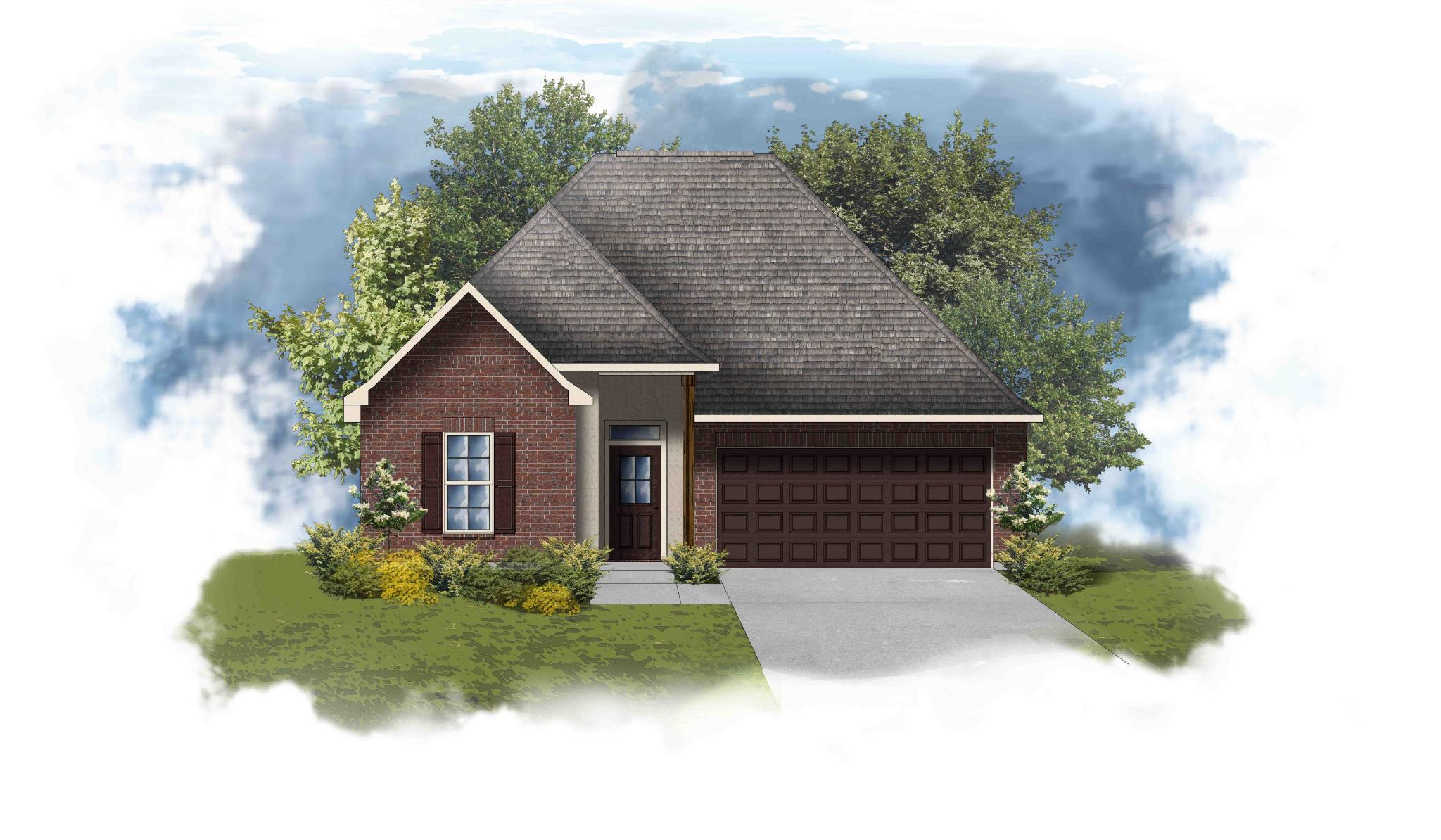 Exterior featured in the Trillium III B - Trinity Bluff By DSLD Homes - Louisiana