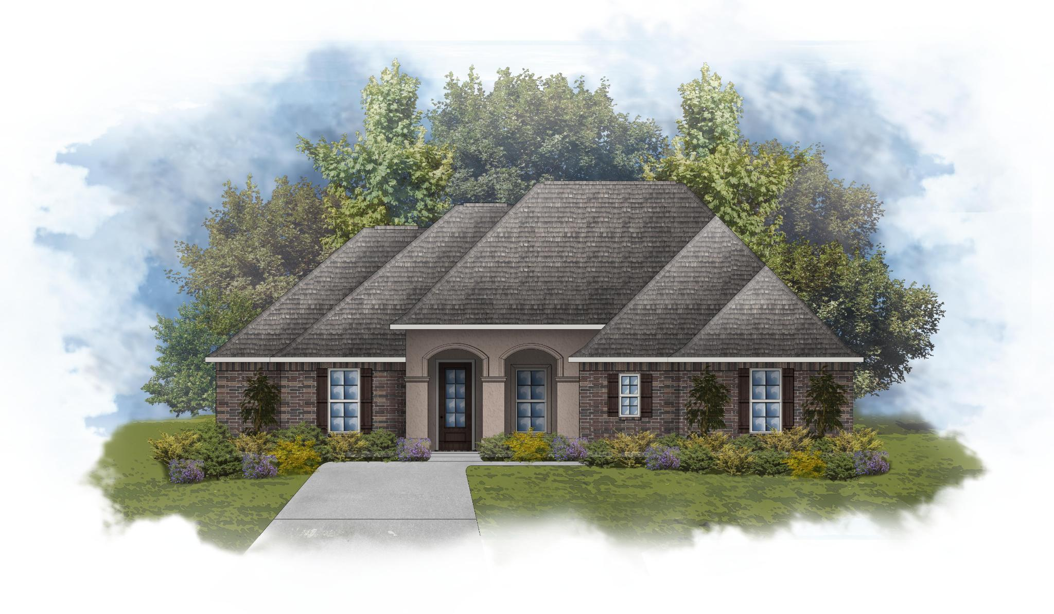 Exterior featured in the Klein II A - Trinity Bluff By DSLD Homes - Louisiana