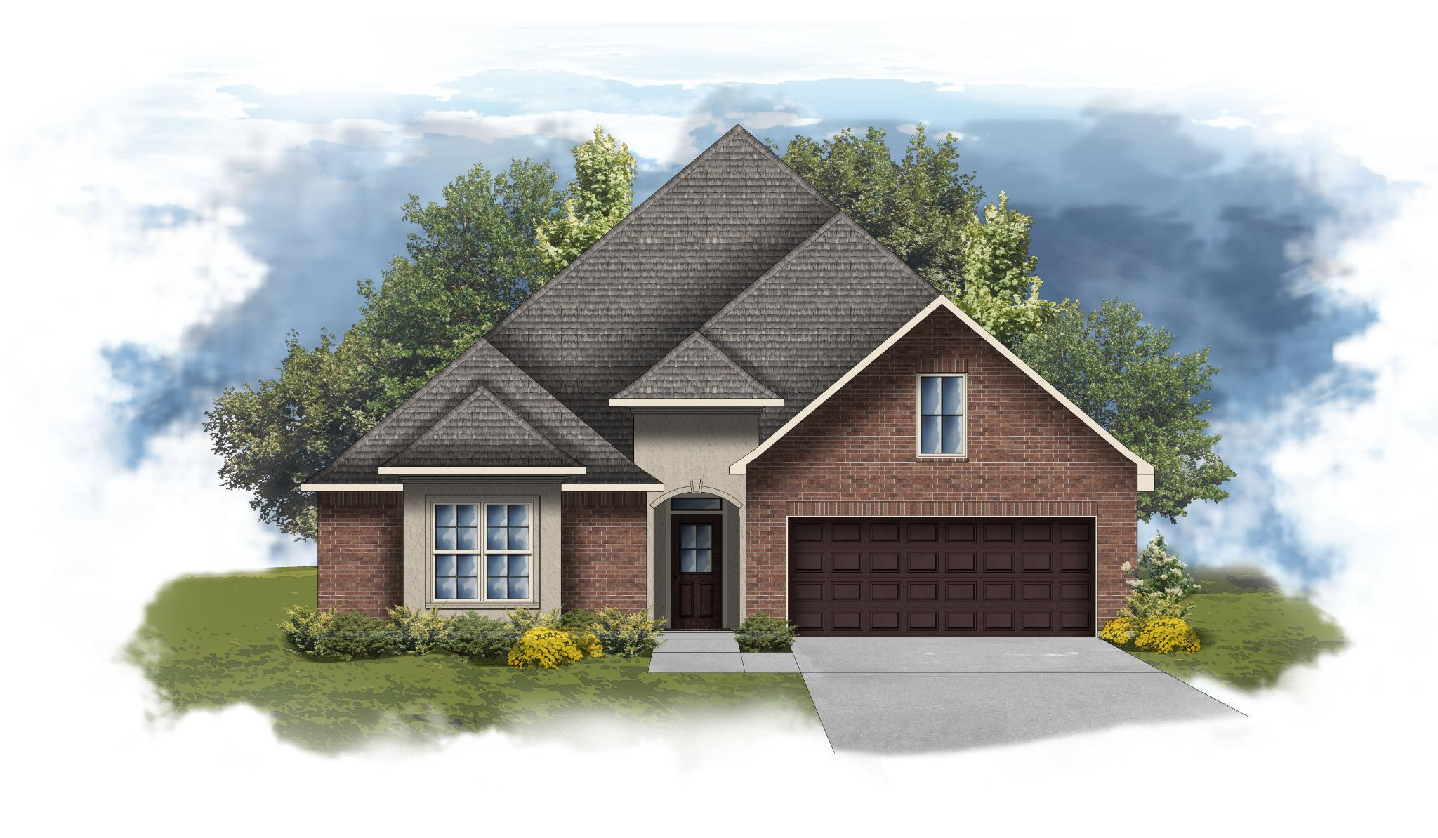 Exterior featured in the Sansa II A - Optional Fireplace By DSLD Homes - Louisiana in Lafayette, LA
