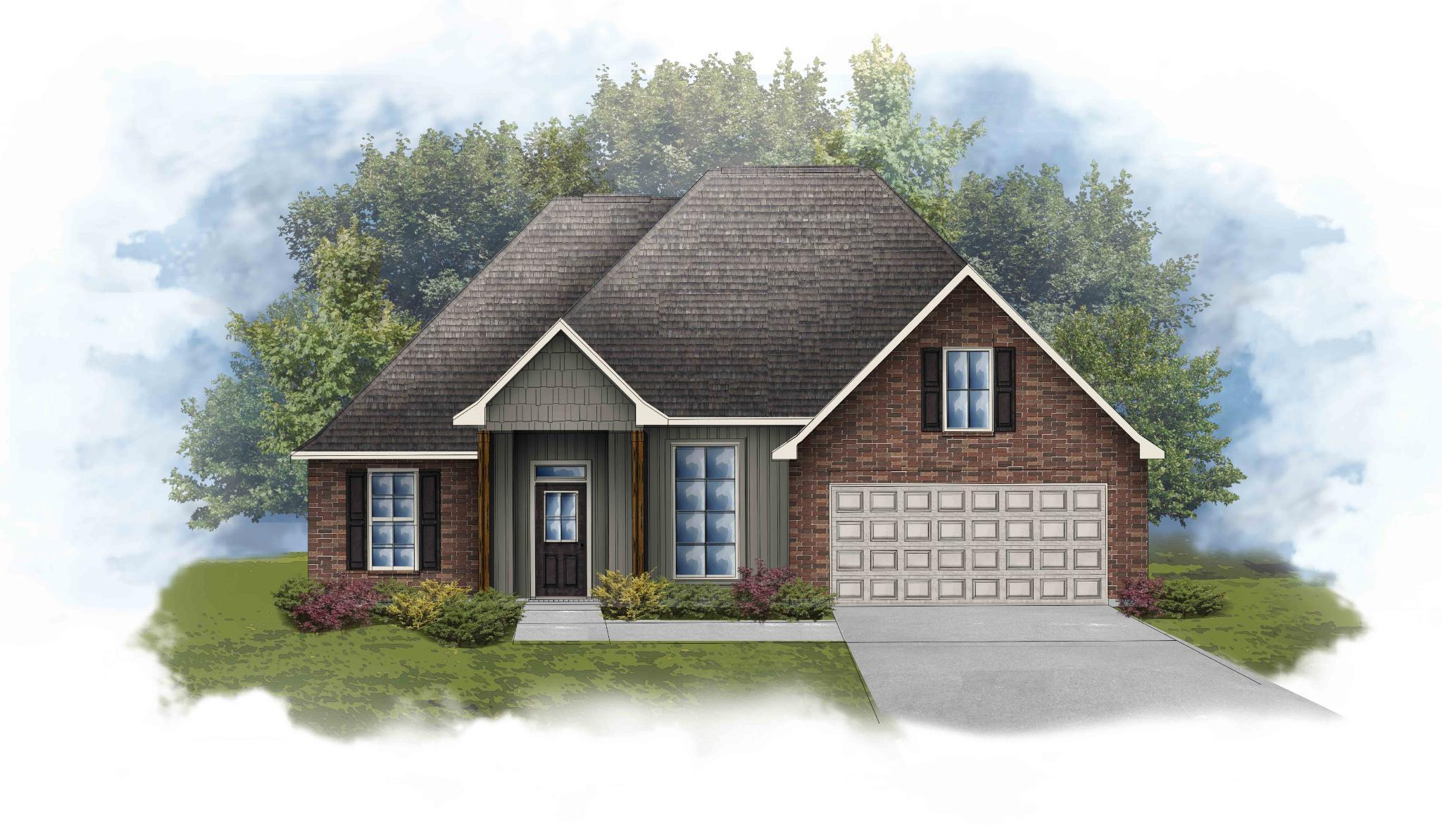 Exterior featured in the Roses IV H - Optional Fireplace By DSLD Homes - Louisiana in Monroe, LA