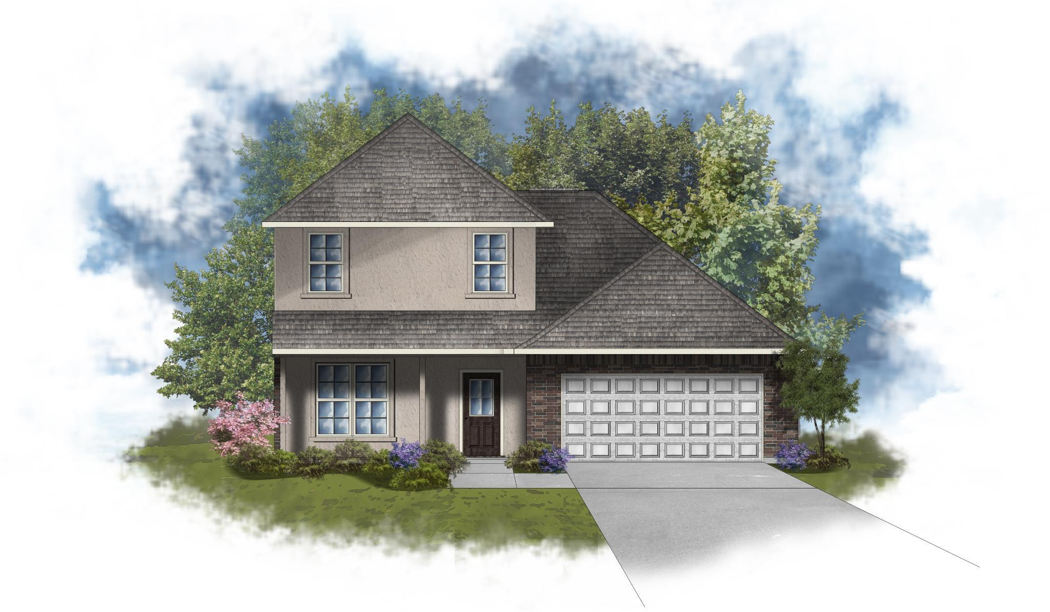 Exterior featured in the Willowbrook III B - Optional Fireplace By DSLD Homes - Louisiana