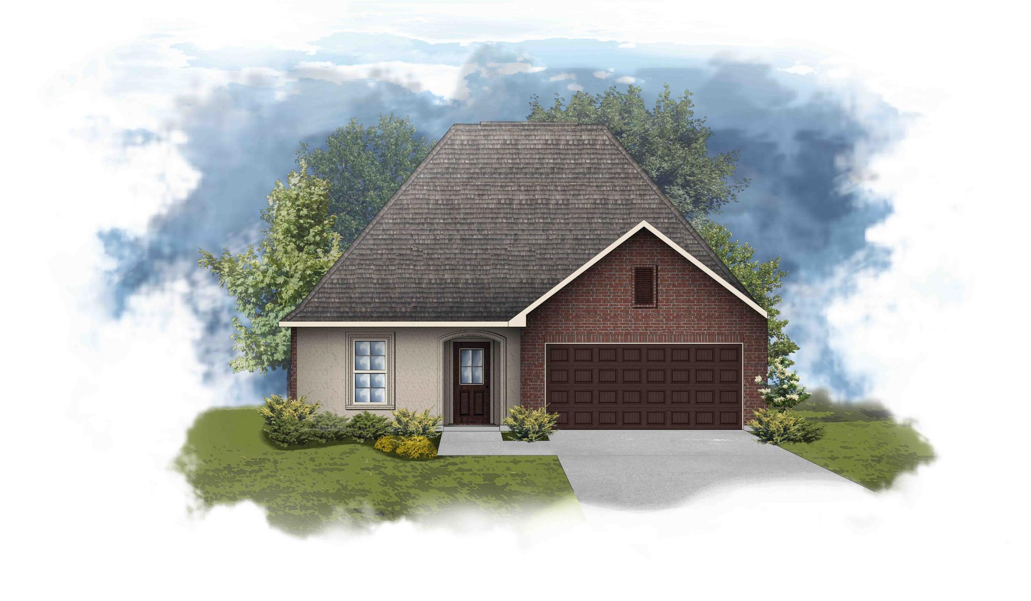 Exterior featured in the 402 SPARROWHAWK ST. By DSLD Homes - Louisiana in Lafayette, LA