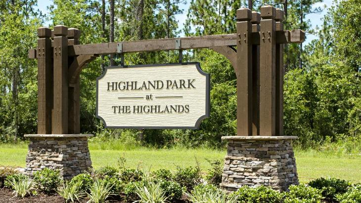 Highland Park Community Sign