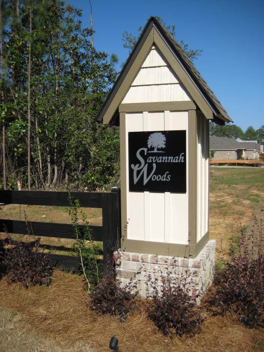Community Signs - DSLD Homes - Spanish Fort - Savannah Woods