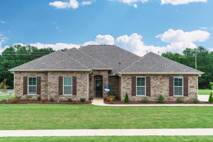Front of Model Home - The Estates at Rivers Landing - DSLD Homes Huntsville