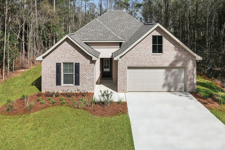 Front view of Model Home - DSLD New Construction Homes - Bellawood in Pensacola Florida