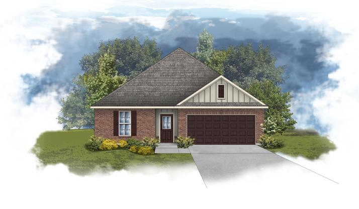 Crescent II G - Front elevation - open floor plan