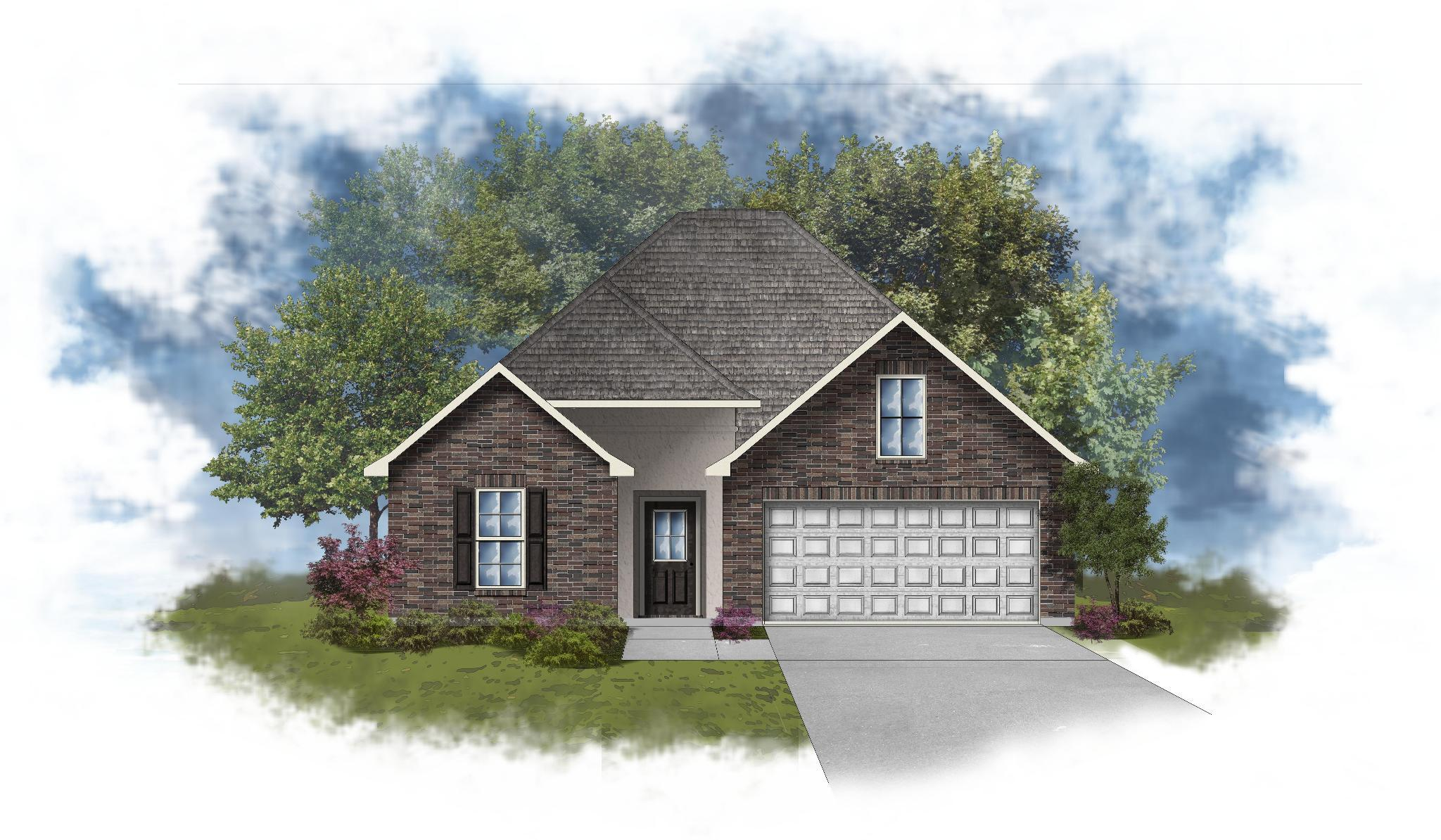 Exterior featured in the LaSalle IV B By DSLD Homes - Alabama in Mobile, AL