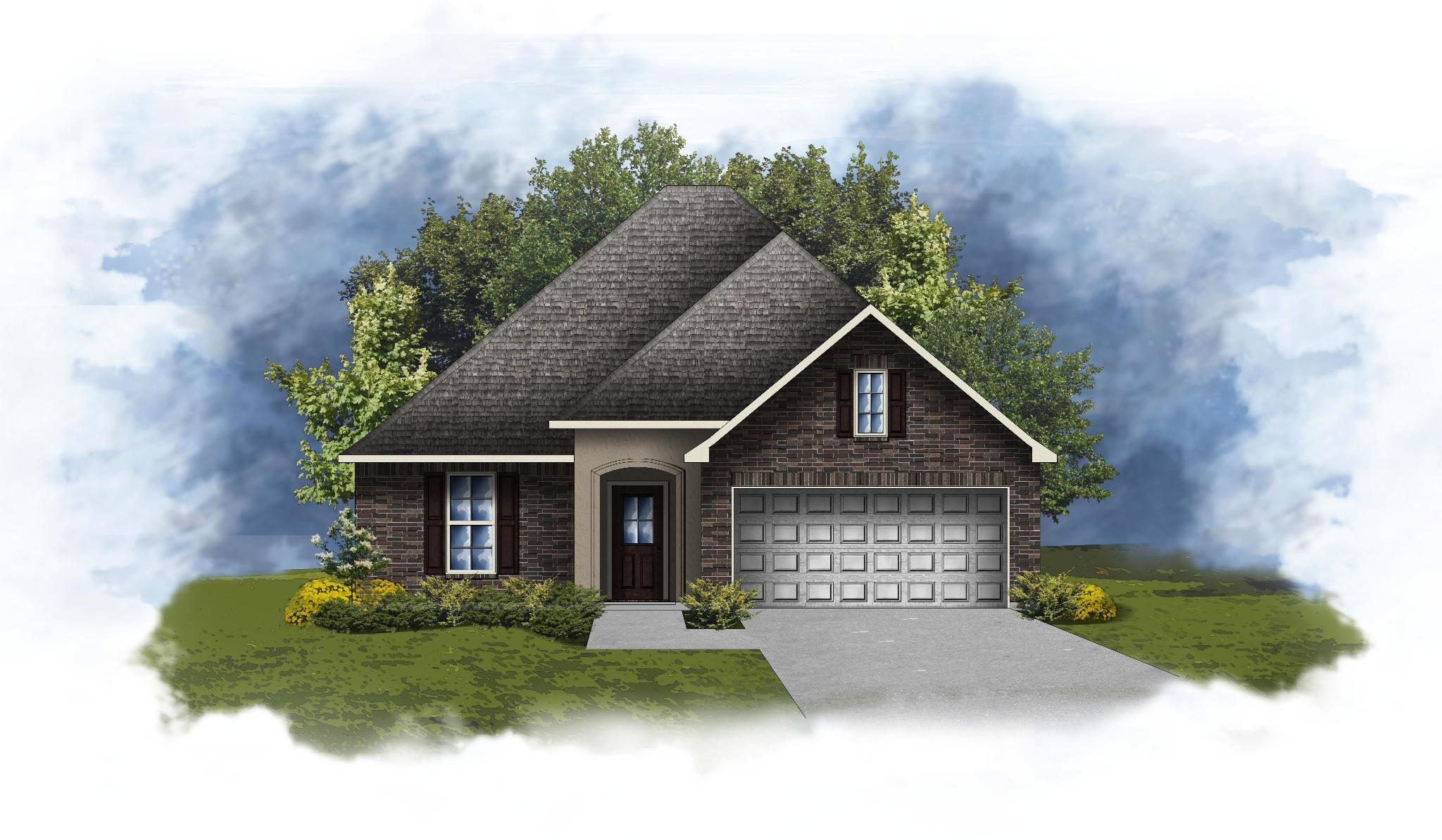 Exterior featured in the Raymond III A By DSLD Homes - Alabama in Mobile, AL