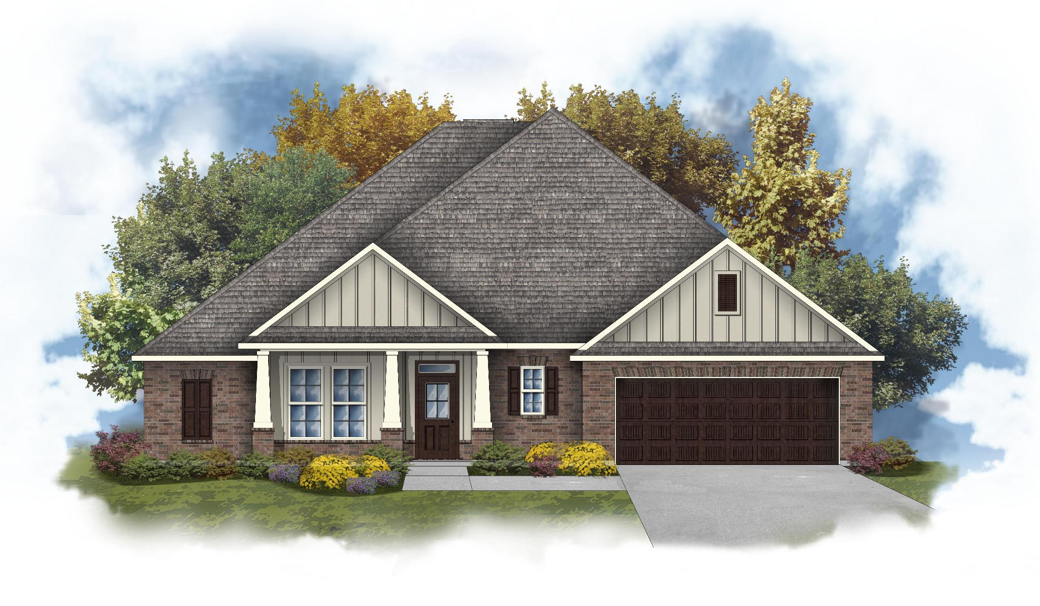 Exterior featured in the Tompkins III A By DSLD Homes - Alabama in Mobile, AL