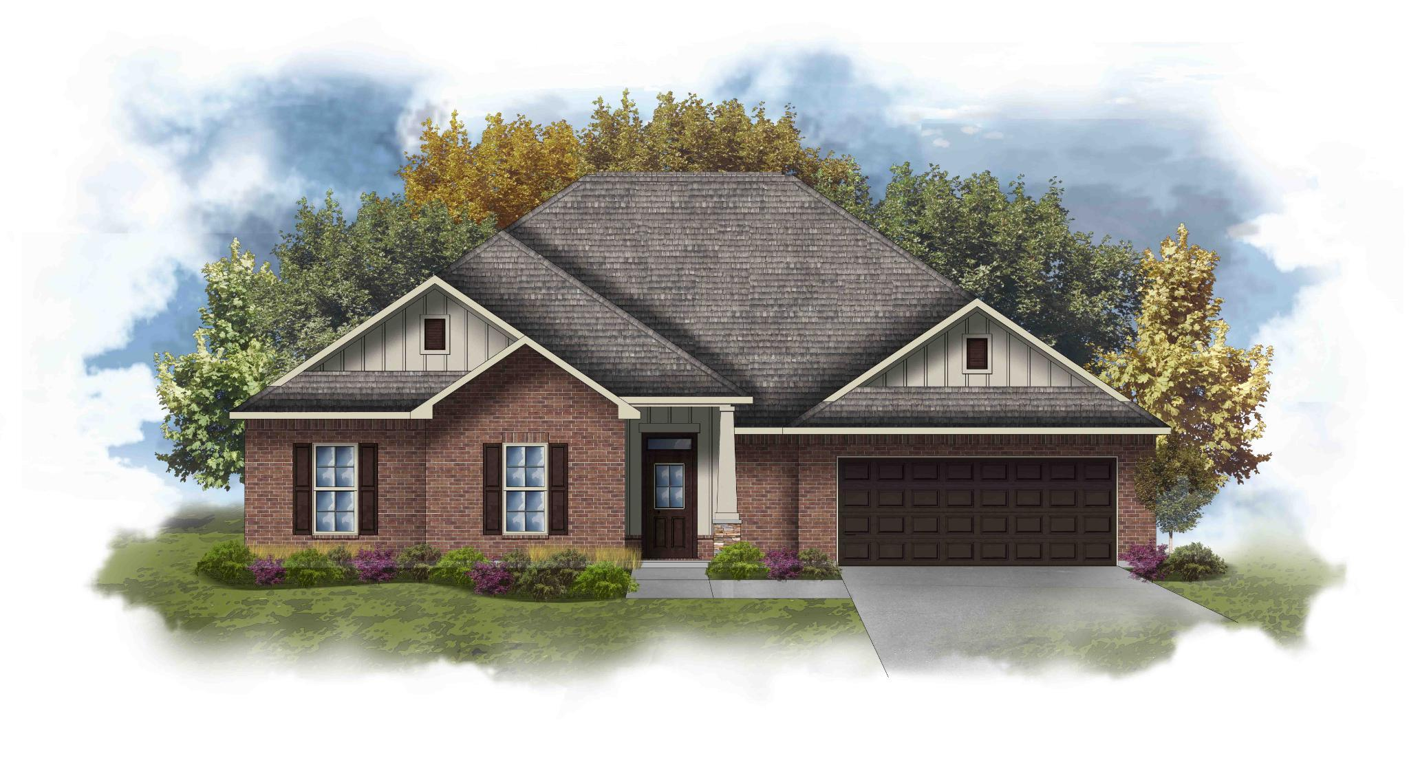 Exterior featured in the Coolidge III I By DSLD Homes - Alabama in Mobile, AL