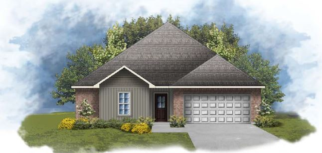 Exterior featured in the Hughes IV H By DSLD Homes - Alabama in Mobile, AL