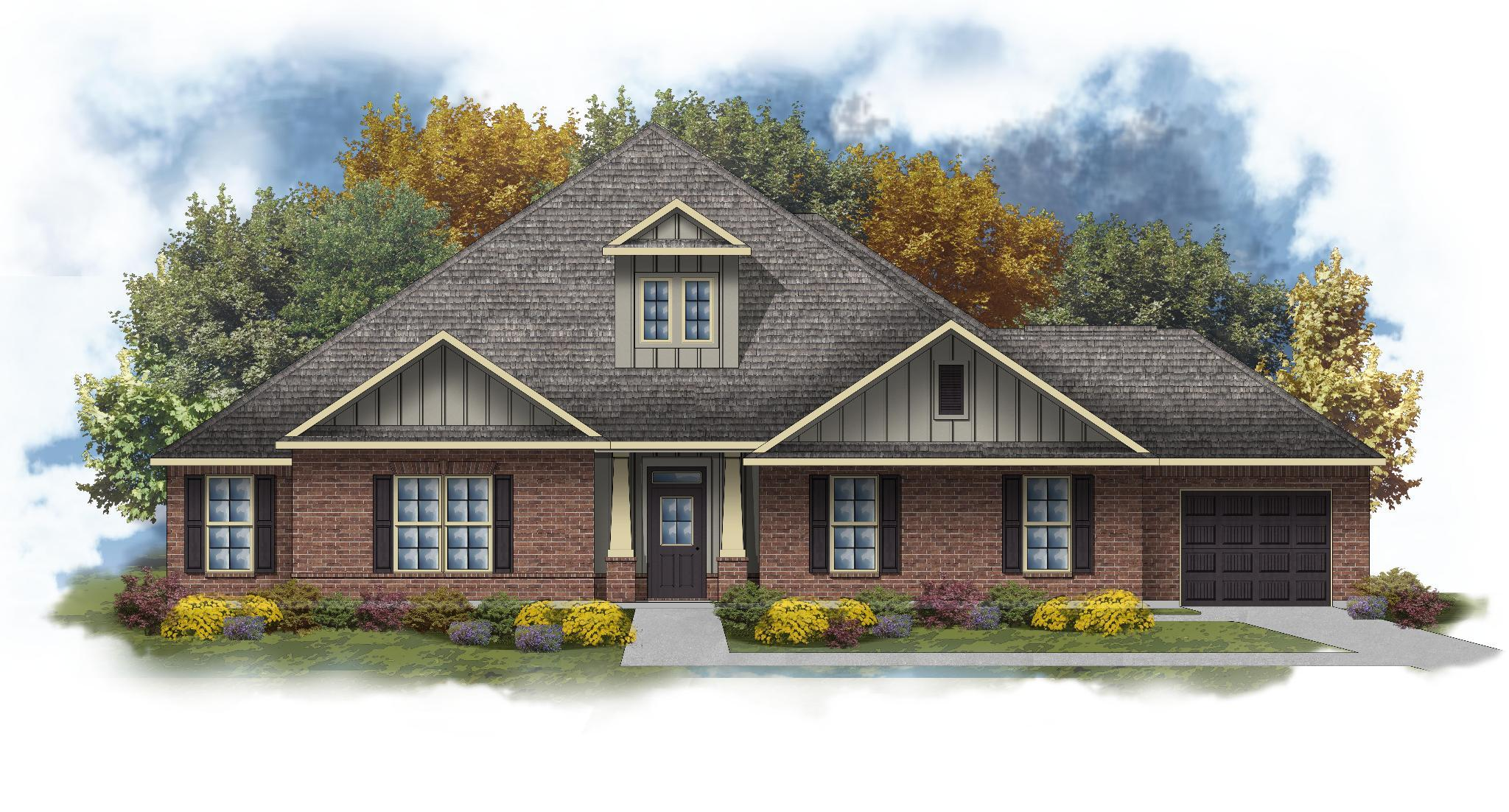 Exterior featured in the Taylor III C By DSLD Homes - Alabama in Mobile, AL
