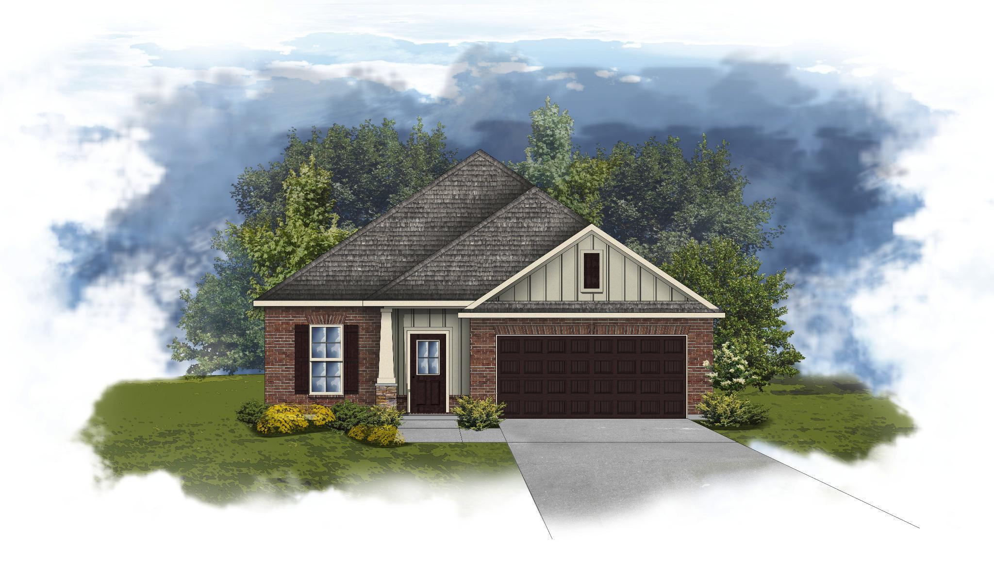 Exterior featured in the Durham II A - Huntsville By DSLD Homes - Alabama in Huntsville, AL