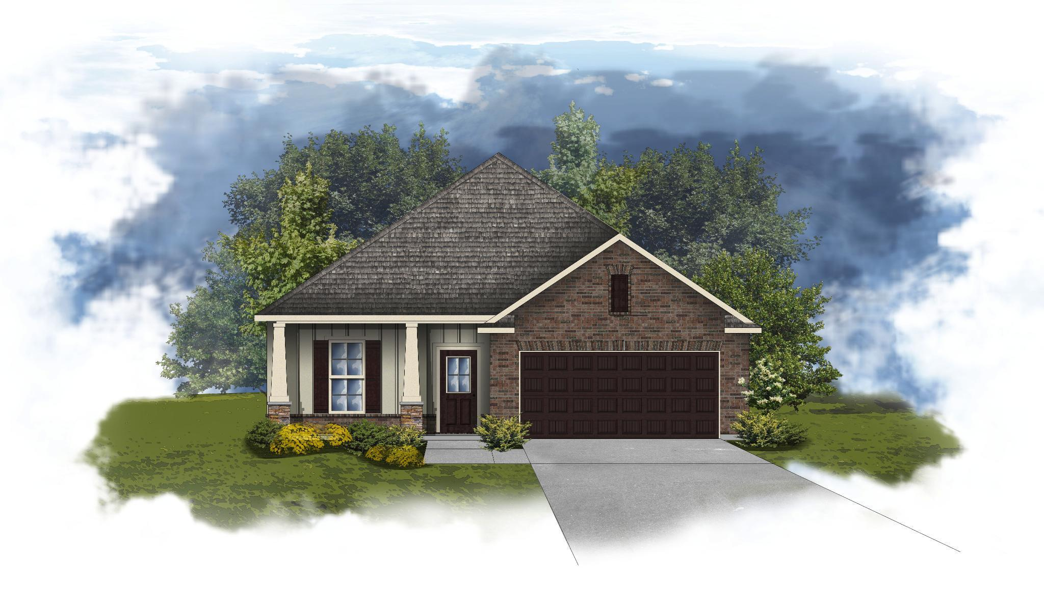 Exterior featured in the Norwood II B - Huntsville By DSLD Homes - Alabama in Huntsville, AL