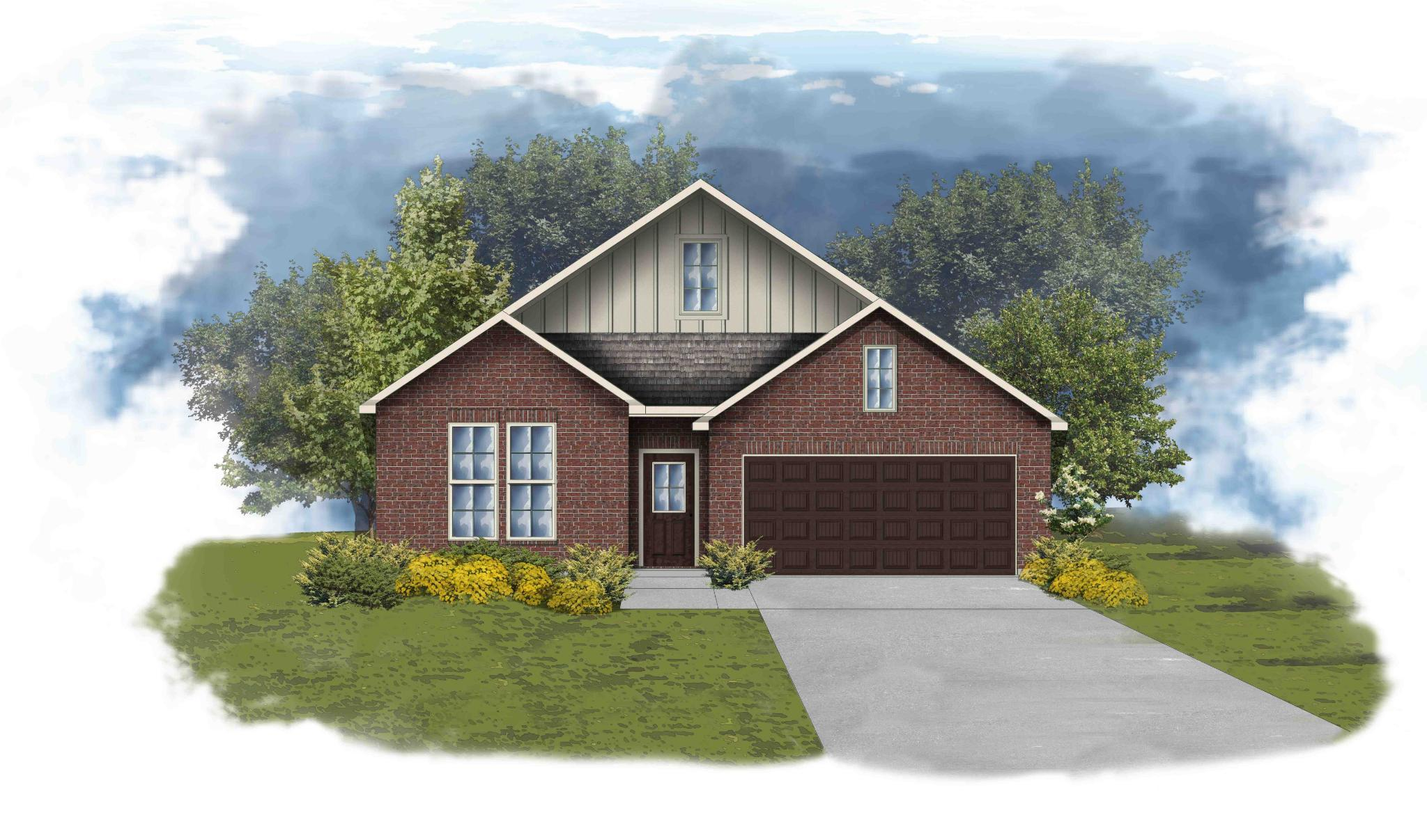 Exterior featured in the Trenton III A By DSLD Homes - Alabama in Mobile, AL