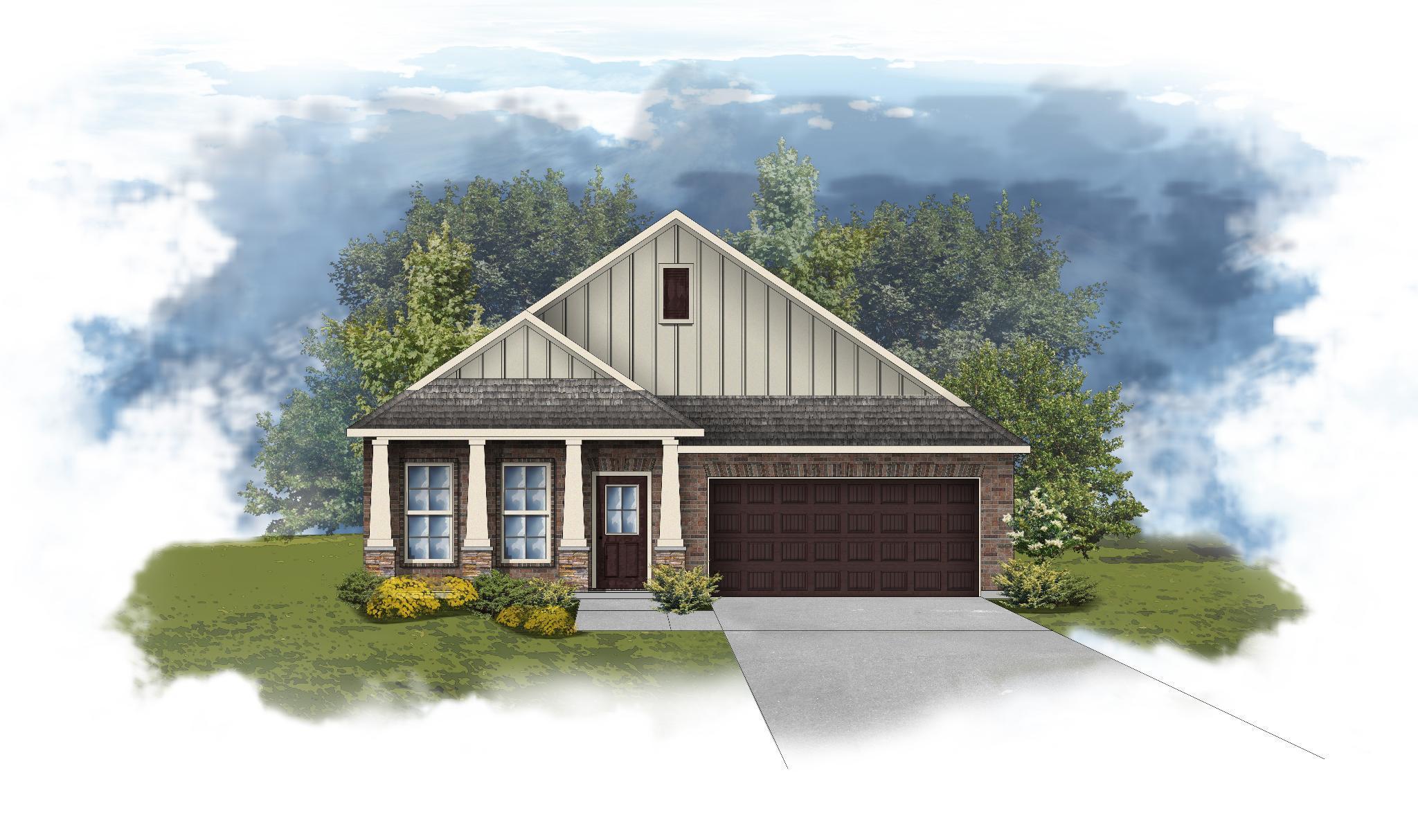 Exterior featured in the Oldtown II C - Huntsville By DSLD Homes - Alabama in Huntsville, AL