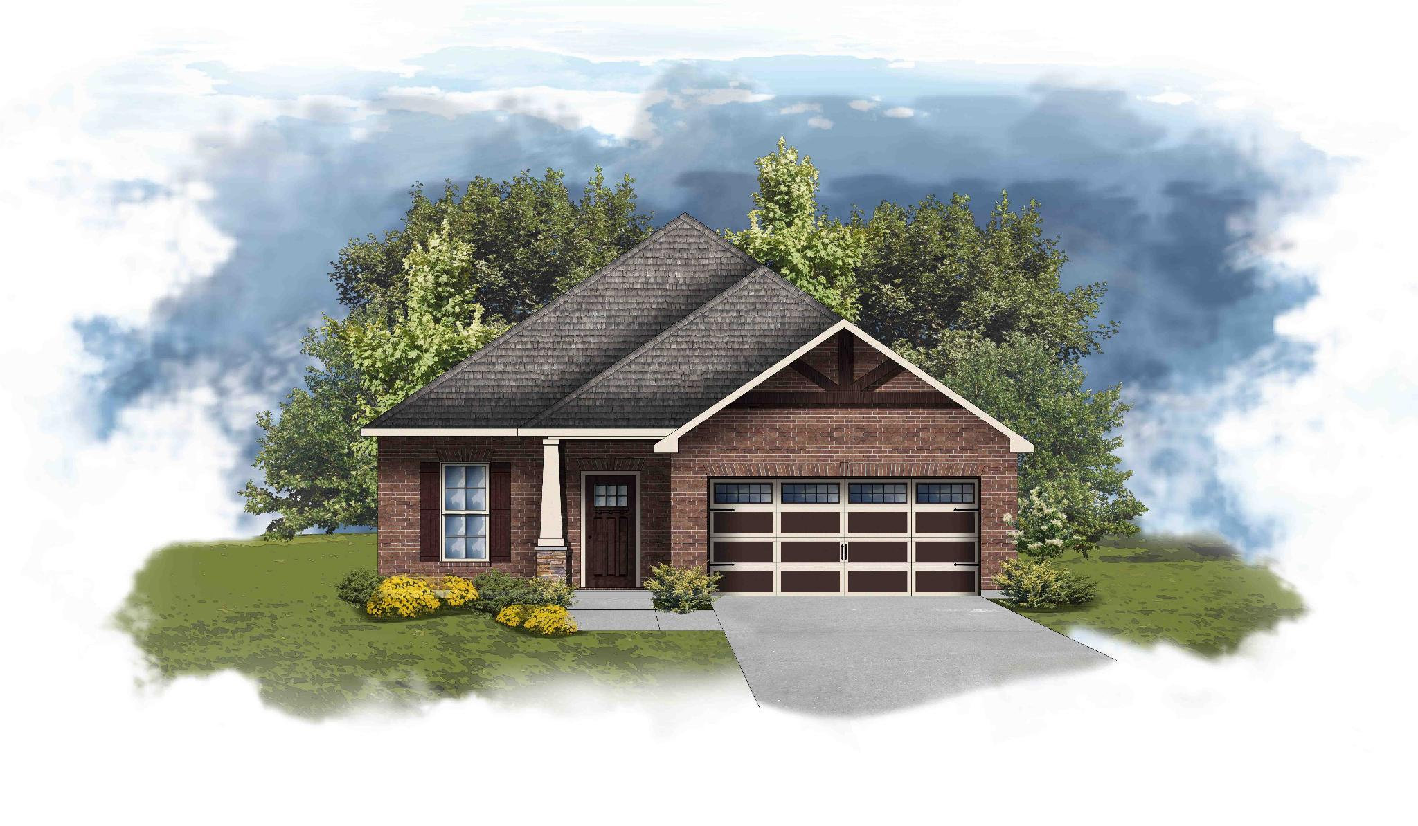 Exterior featured in the Delmar II D By DSLD Homes - Alabama in Huntsville, AL