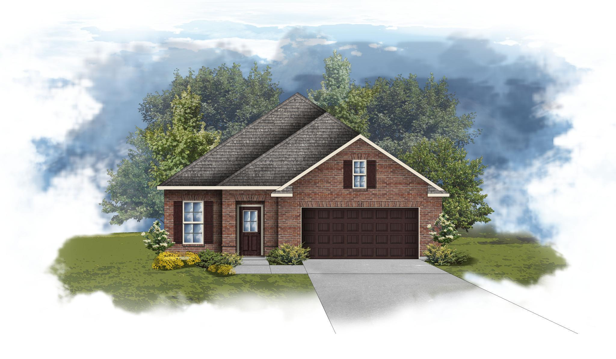Exterior featured in the Branford II A By DSLD Homes - Alabama in Mobile, AL