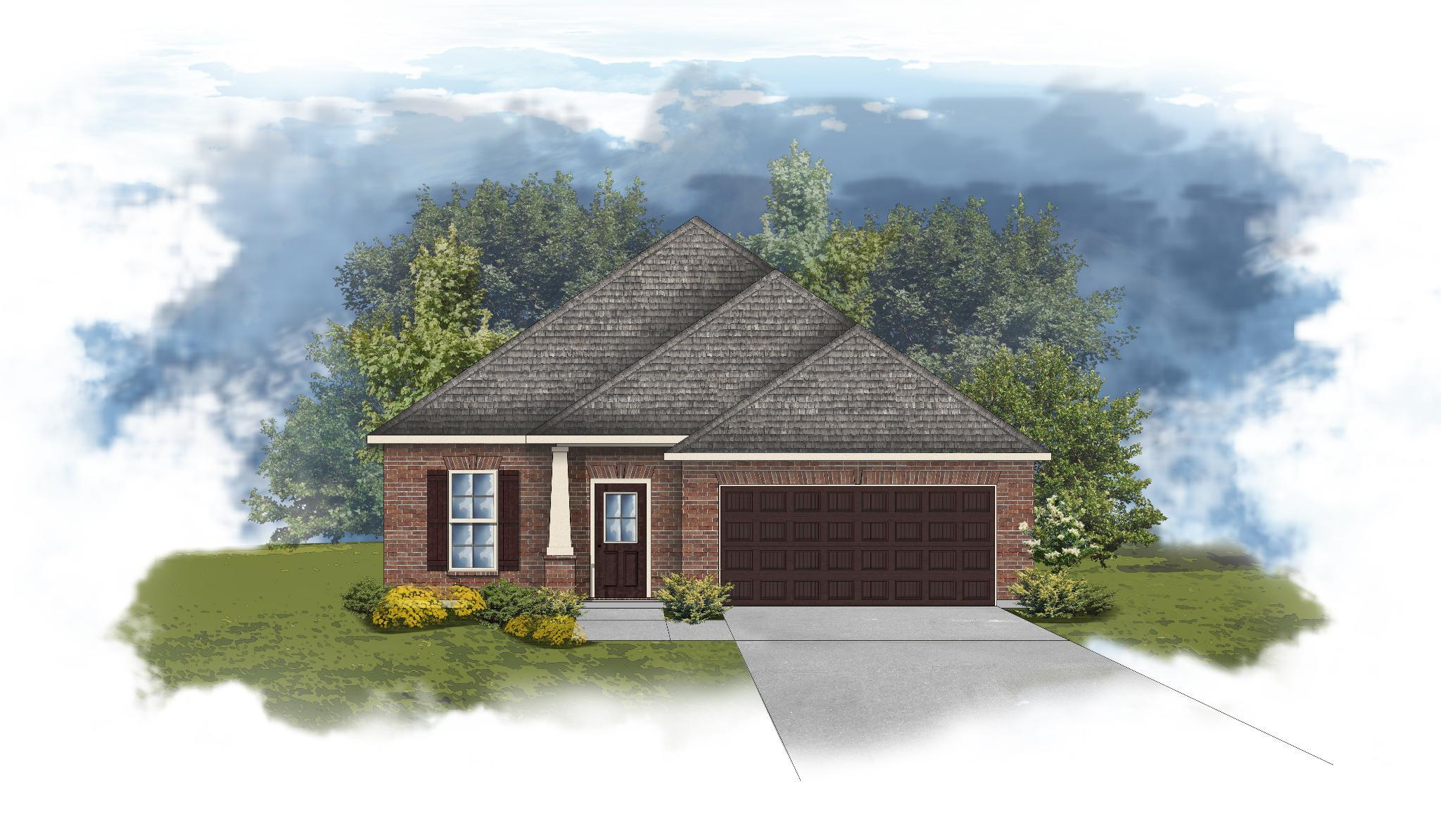 Exterior featured in the Durham II B By DSLD Homes - Alabama in Mobile, AL