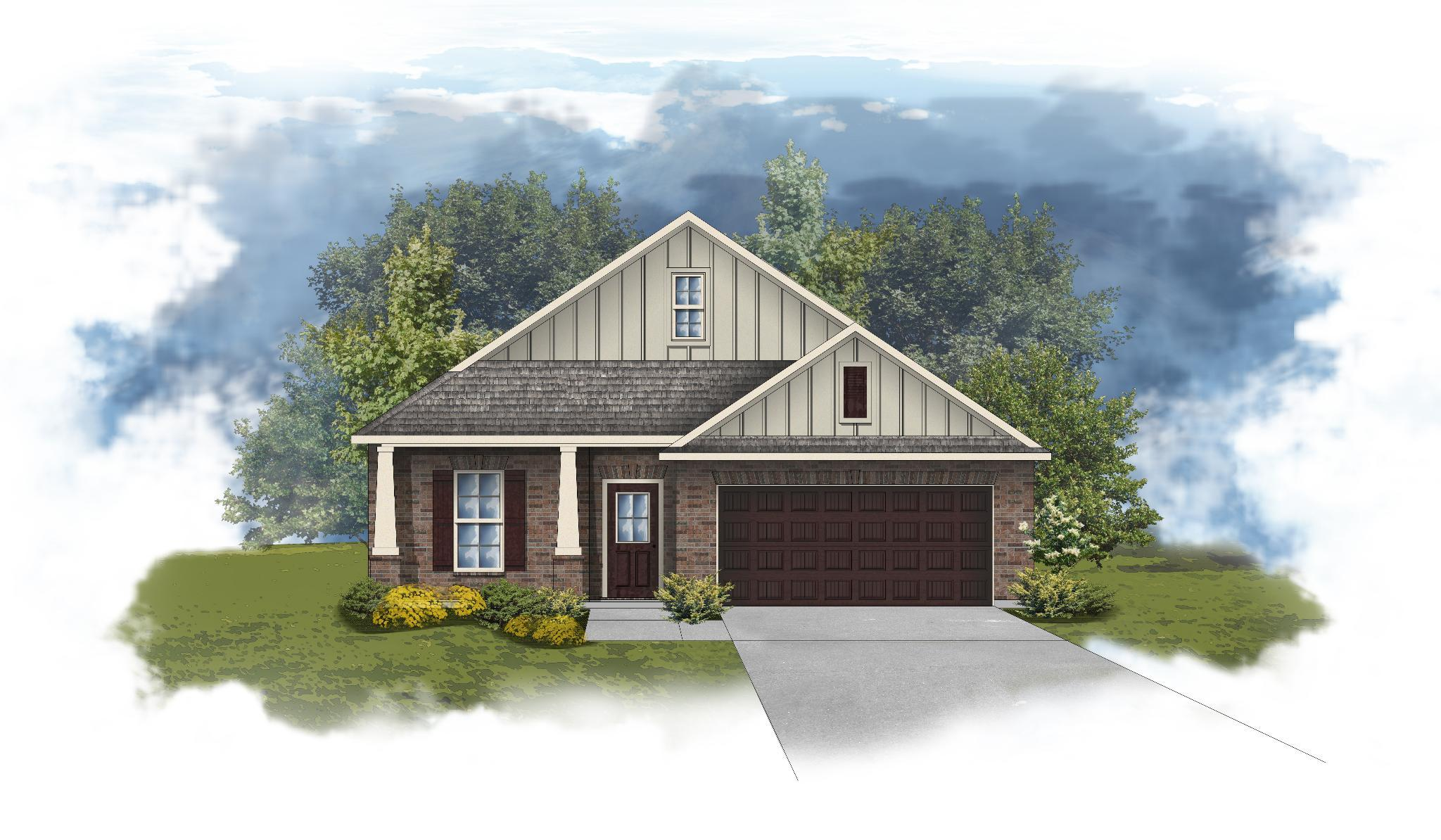 Exterior featured in the Norwood II A By DSLD Homes - Alabama in Mobile, AL