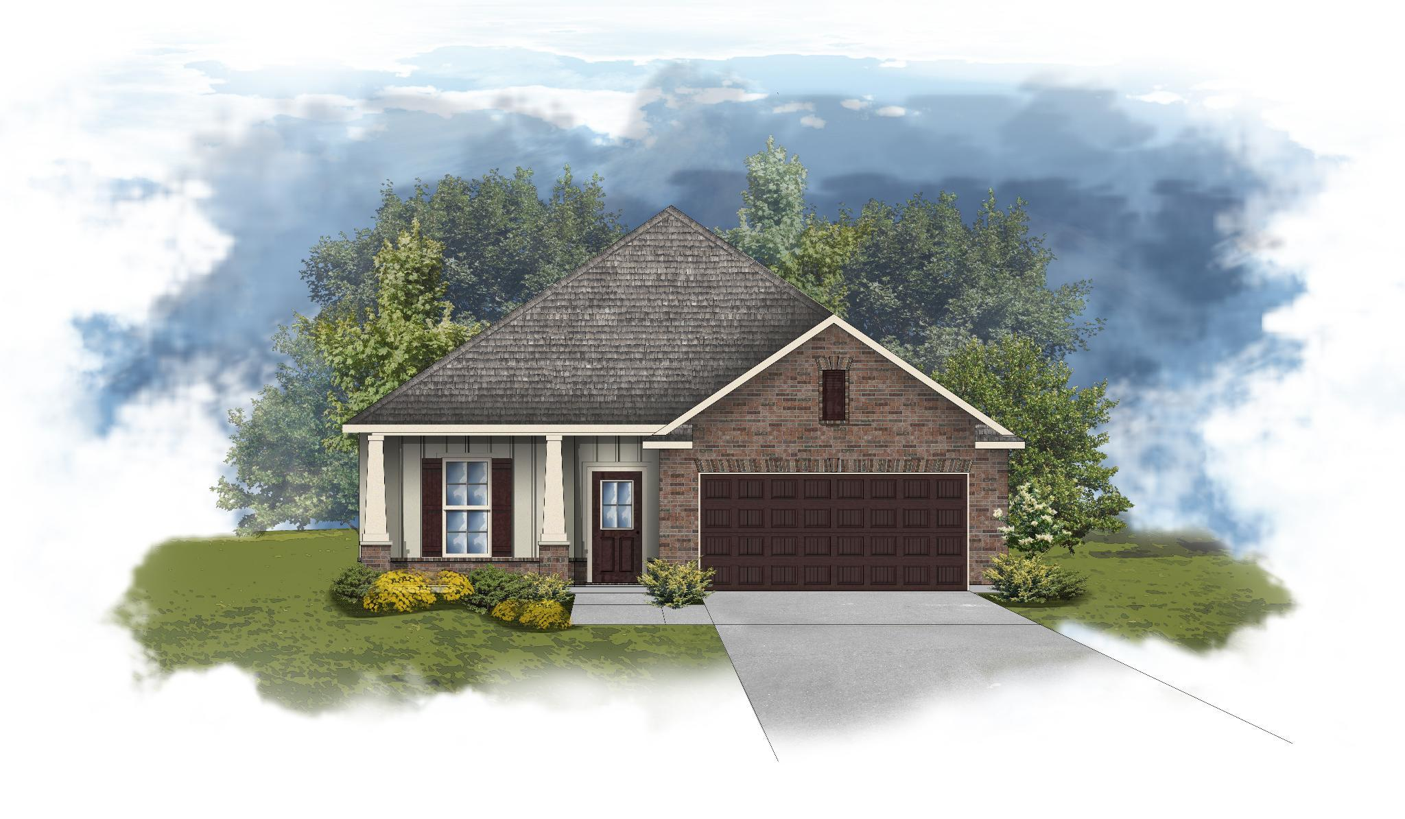 Exterior featured in the Norwood II B By DSLD Homes - Alabama in Mobile, AL