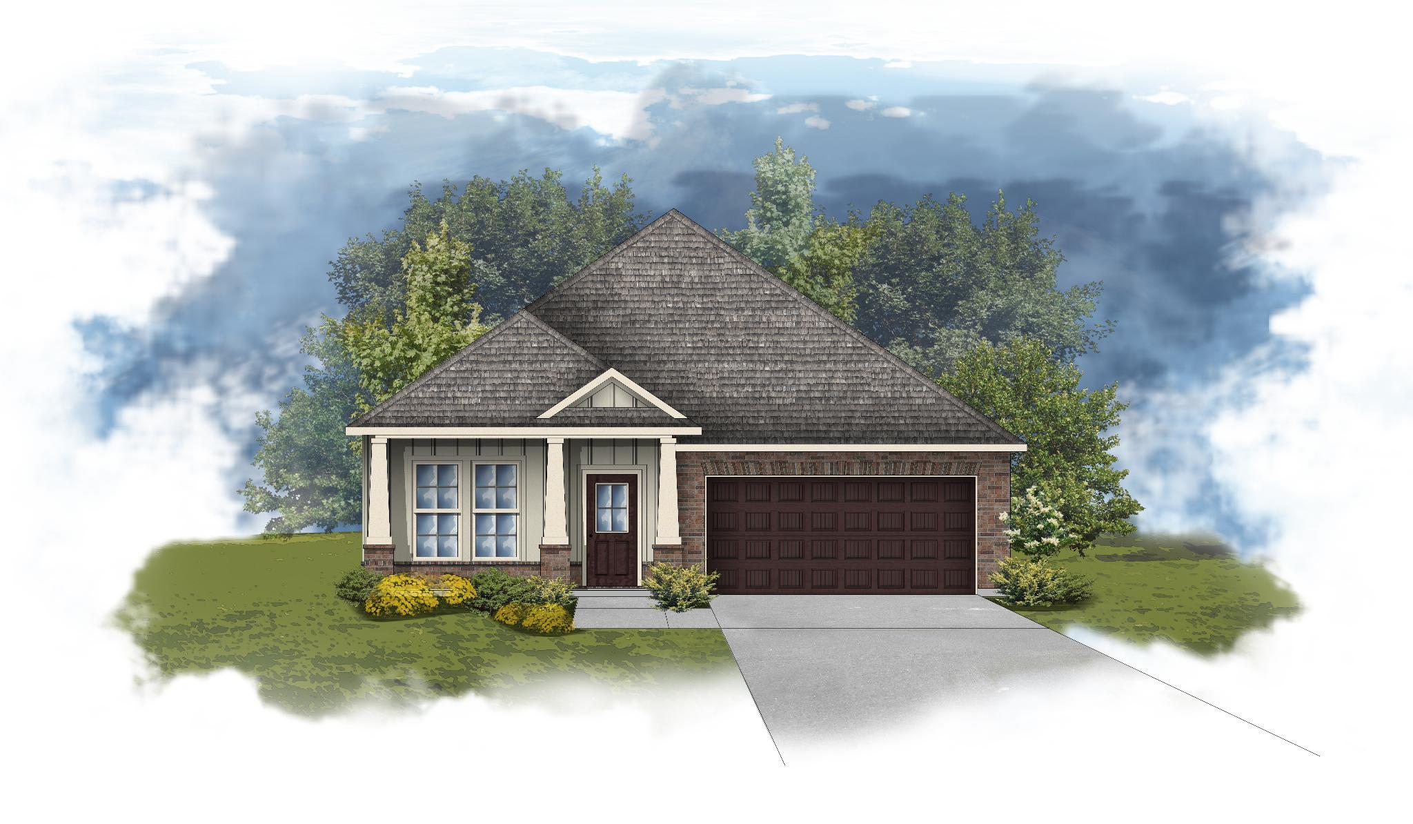 Exterior featured in the Oakdale II B By DSLD Homes - Alabama in Mobile, AL
