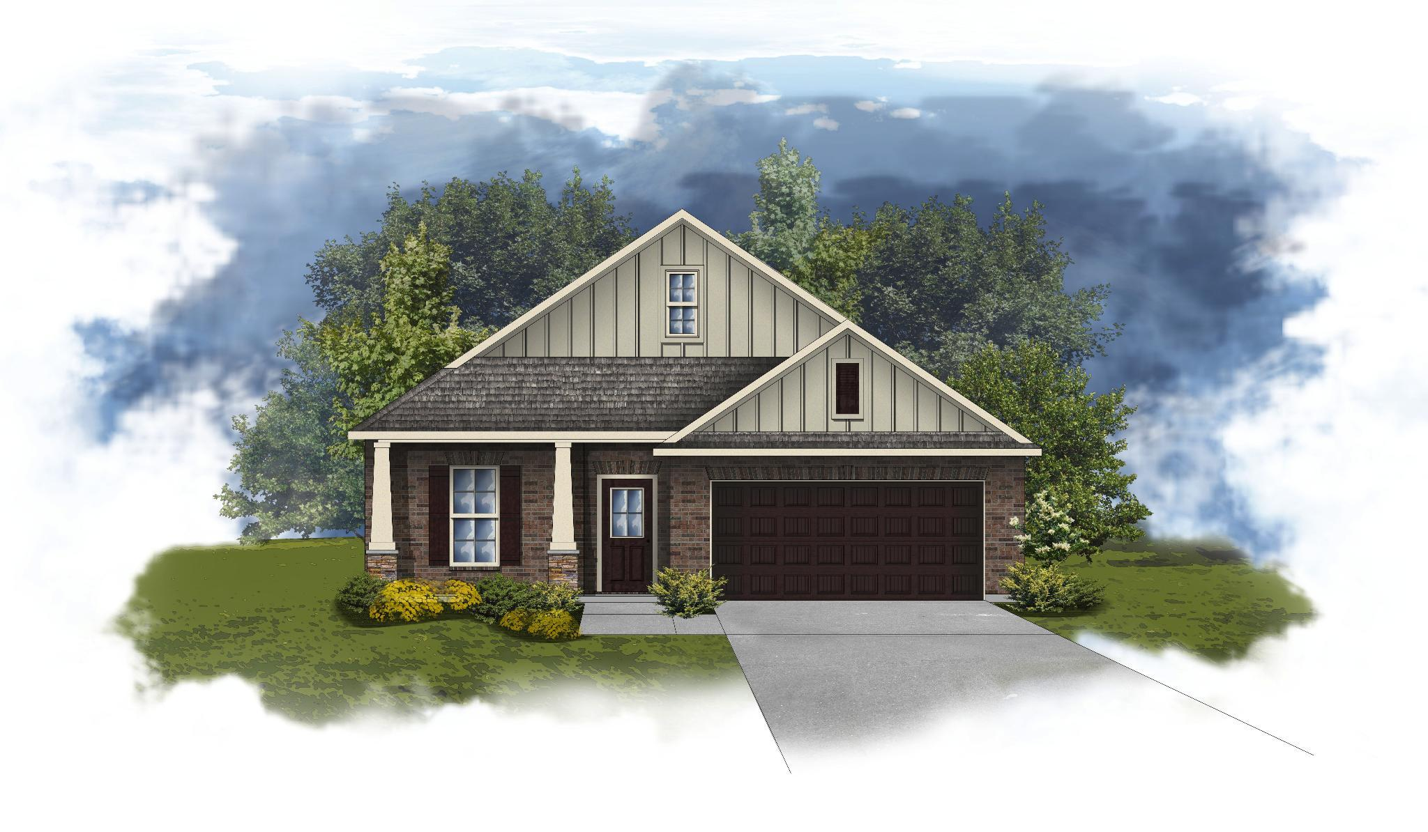 Exterior featured in the Norwood II A - Huntsville By DSLD Homes - Alabama in Huntsville, AL