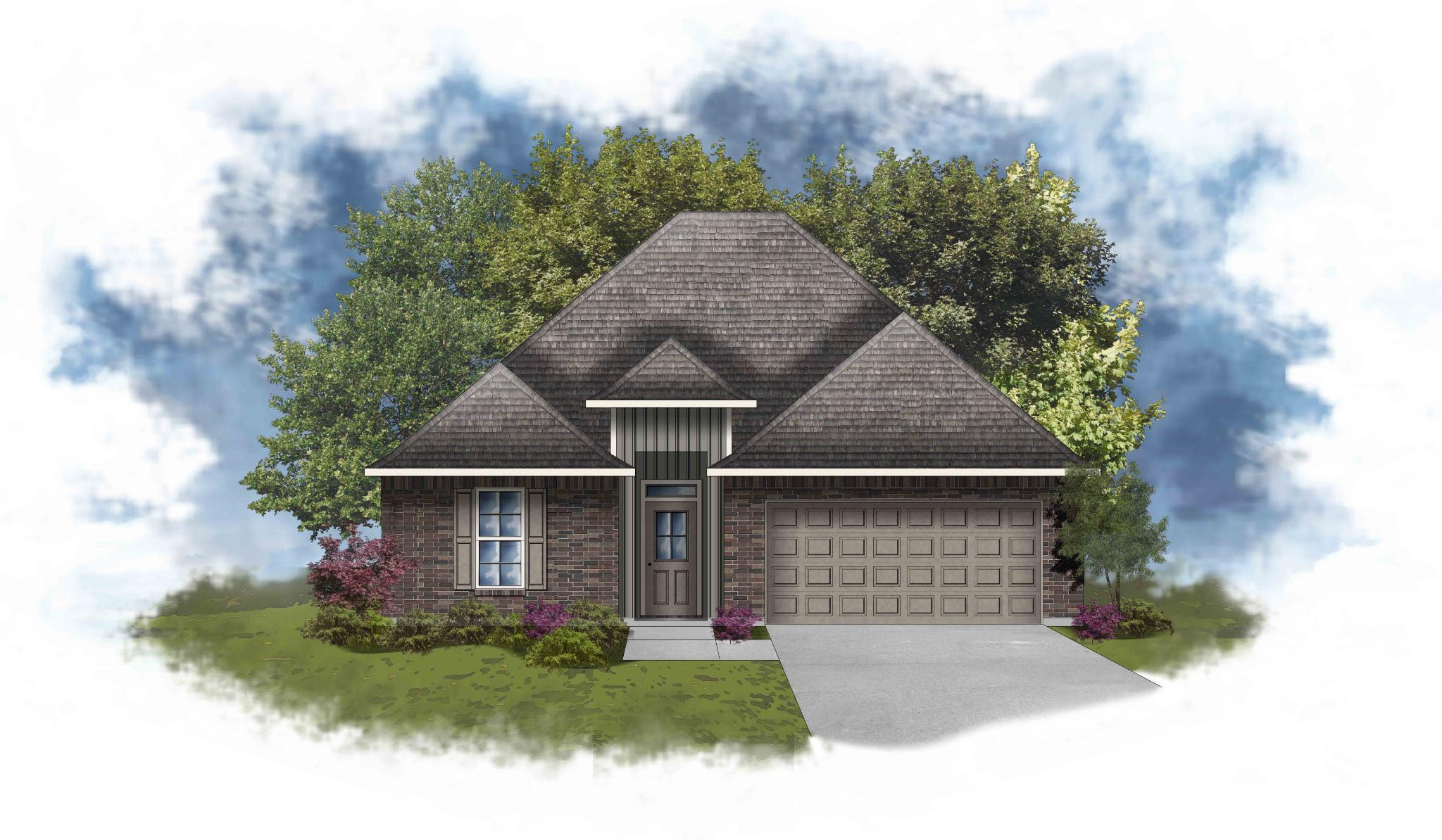 Exterior featured in the Lavender IV G By DSLD Homes - Mississippi in Biloxi, MS