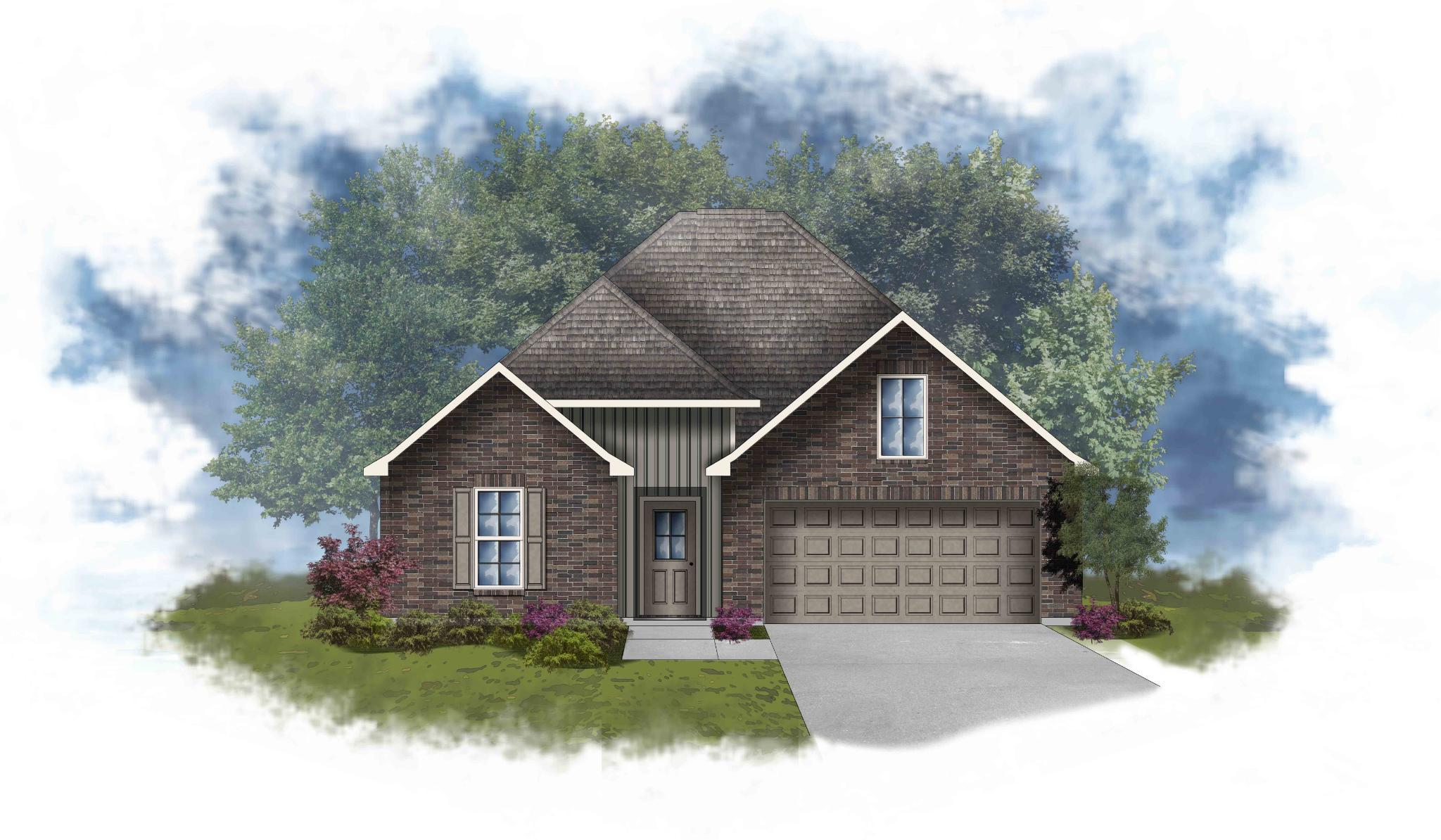 Exterior featured in the LaSalle IV H By DSLD Homes - Alabama in Mobile, AL