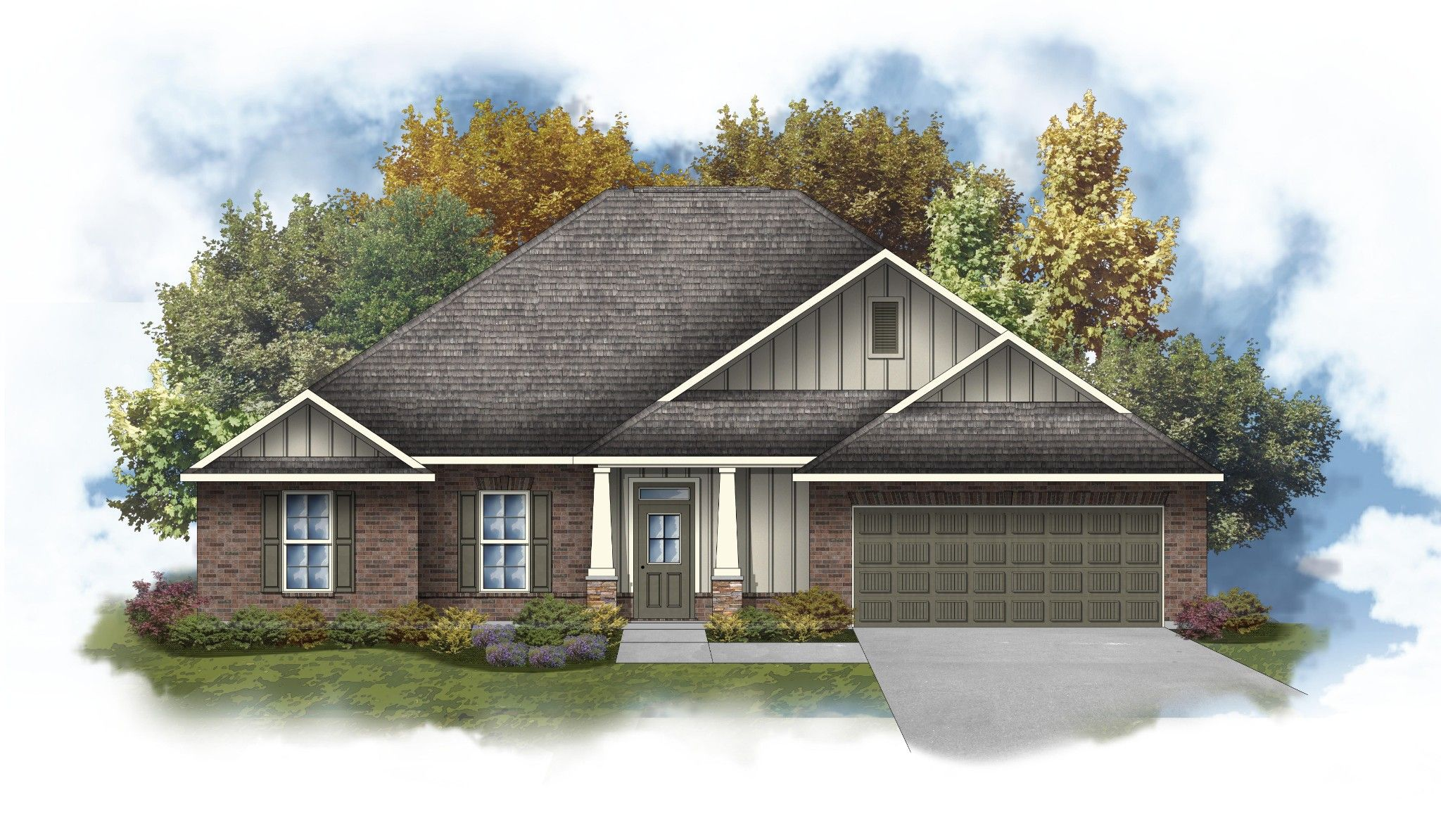 Exterior featured in the Hendricks IV B By DSLD Homes - Mississippi in Biloxi, MS