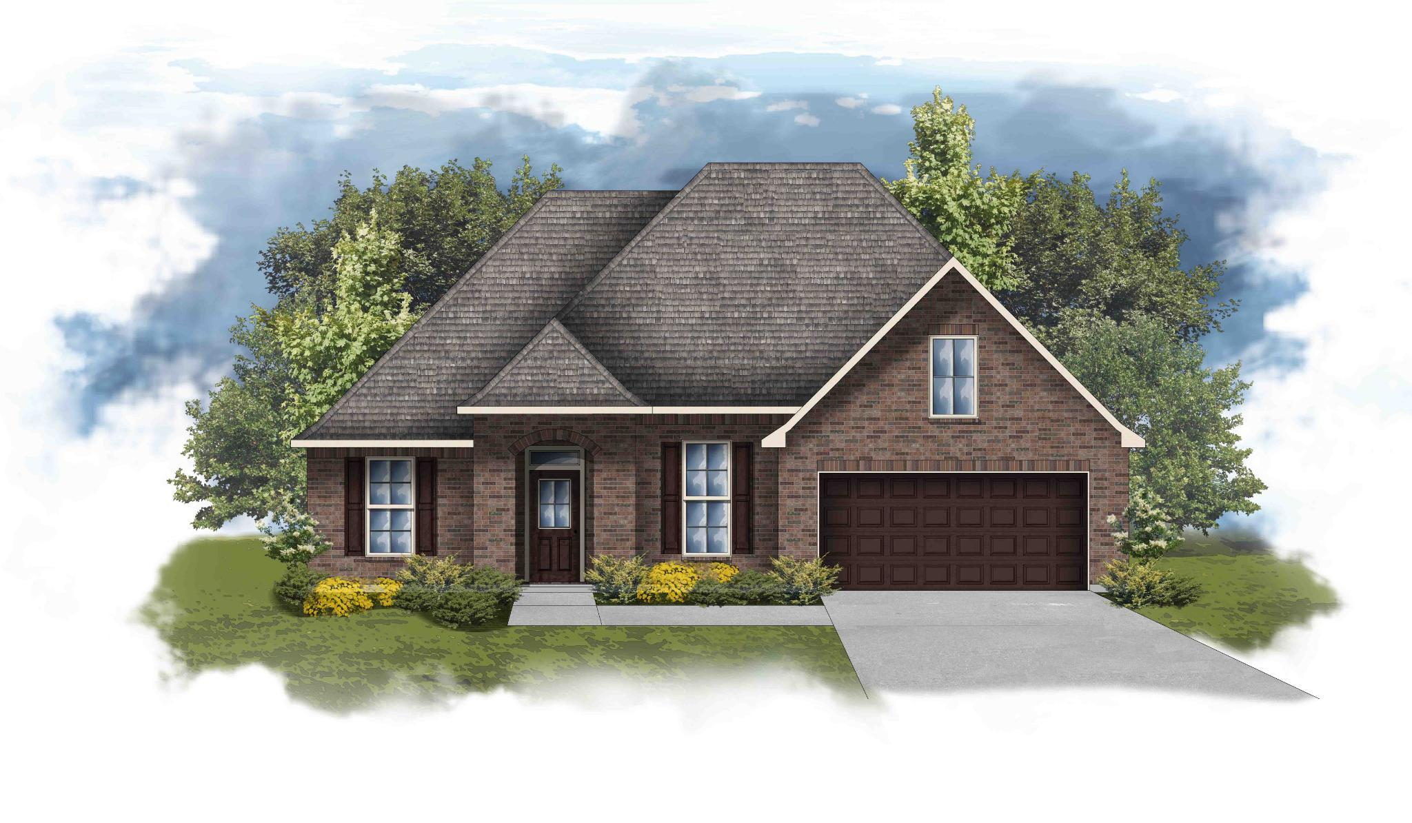Exterior featured in the Riverside IV A By DSLD Homes - Alabama in Mobile, AL