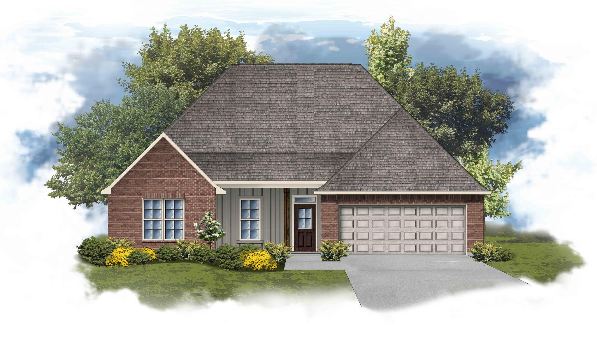 Exterior featured in the Camellia IV G By DSLD Homes - Mississippi in Biloxi, MS