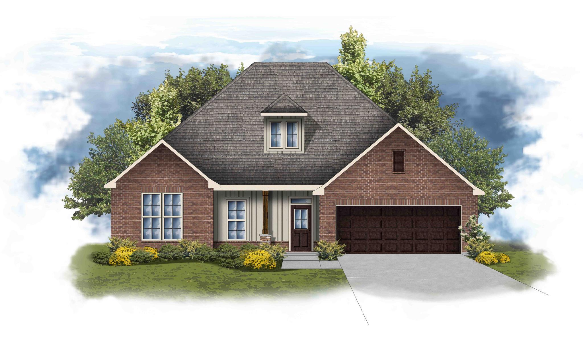 Exterior featured in the Collinswood II G - Huntsville By DSLD Homes - Alabama in Huntsville, AL