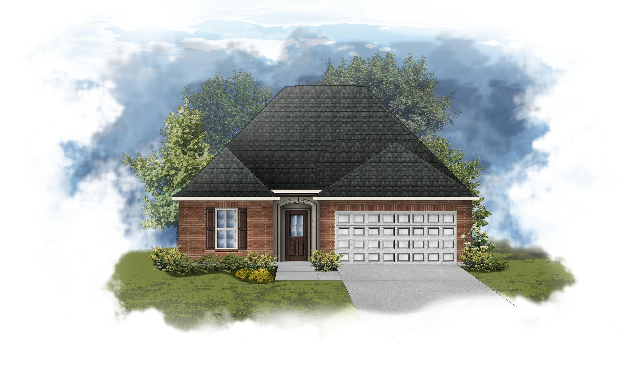 Exterior featured in the Cornel III B By DSLD Homes - Alabama in Mobile, AL