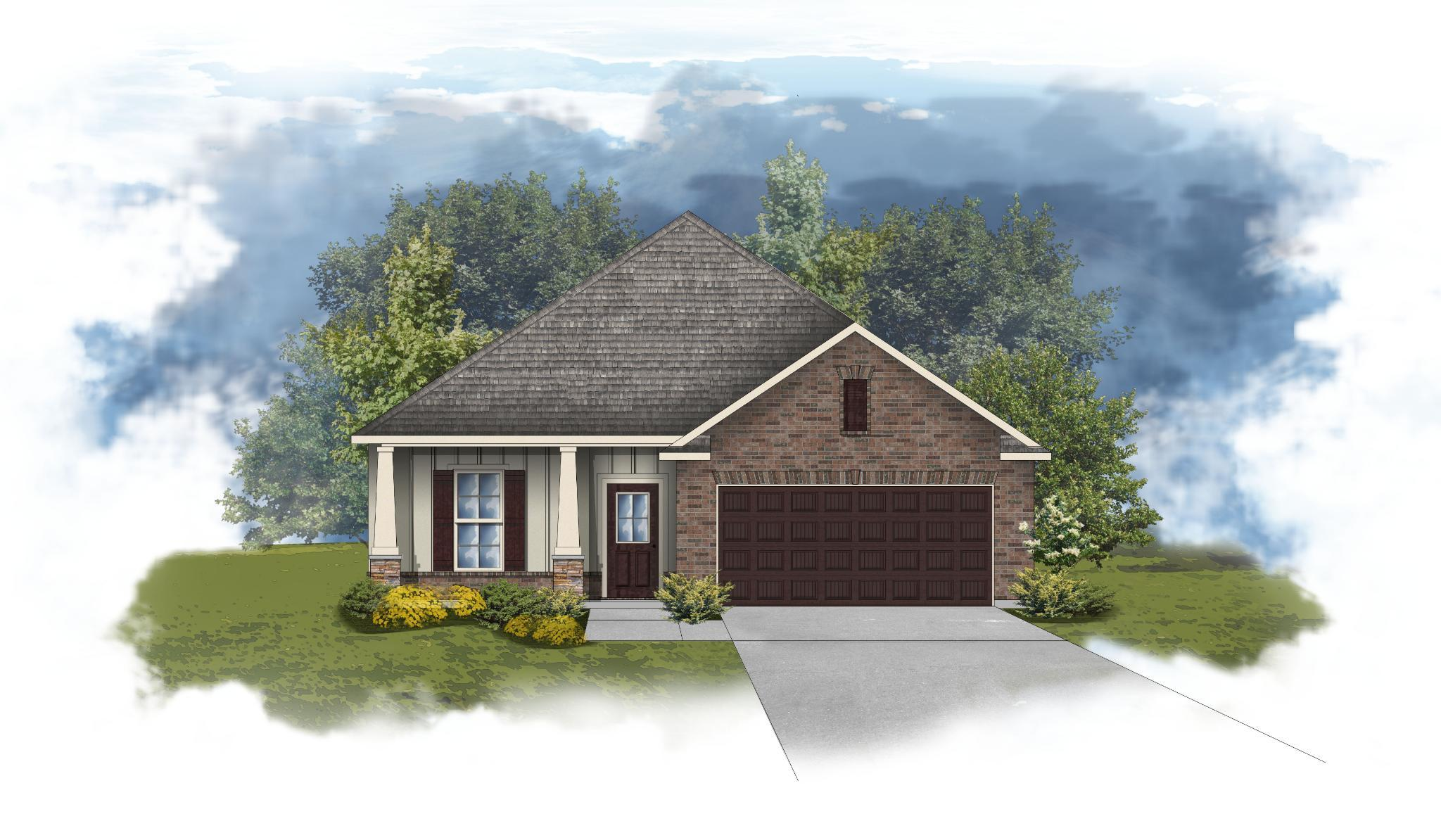 Exterior featured in the Norwood II B - CY By DSLD Homes - Alabama in Mobile, AL