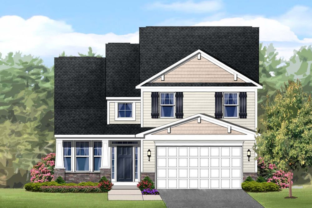Hampton Ii Home Plan By Dan Ryan Builders In The Meadows