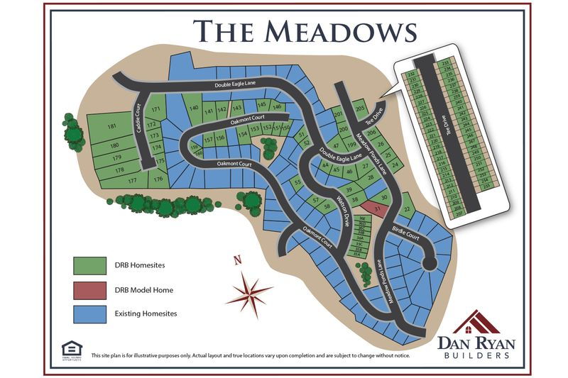 The Meadows Townhomes Site Map