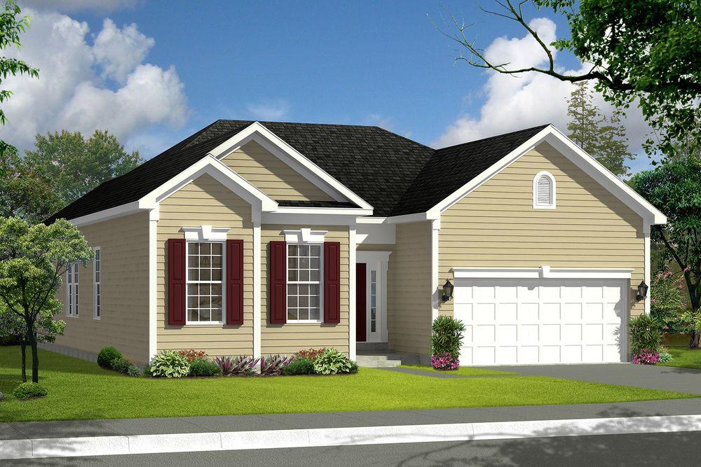 Juniper ii home plan by dan ryan builders in canterbury woods for West virginia home builders
