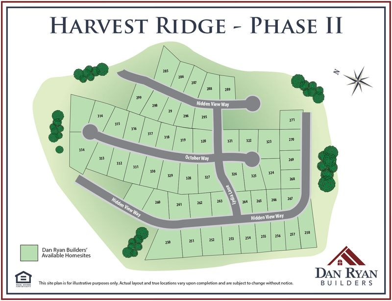 Harvest Ridge Site Map
