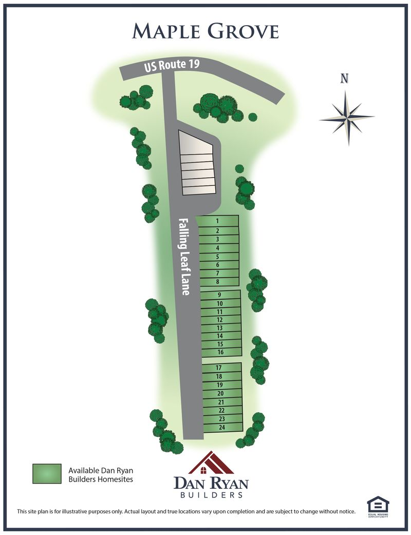 Maple Grove Site Map