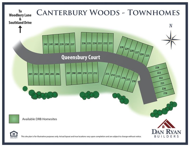 Canterbury Woods Townhomes (The Mews) Site Map
