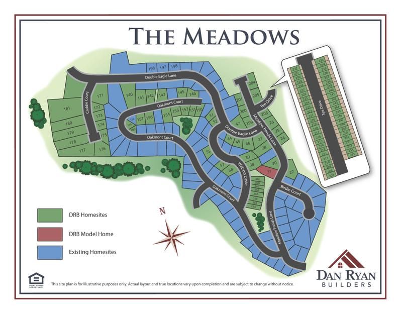 The Meadows Site Map