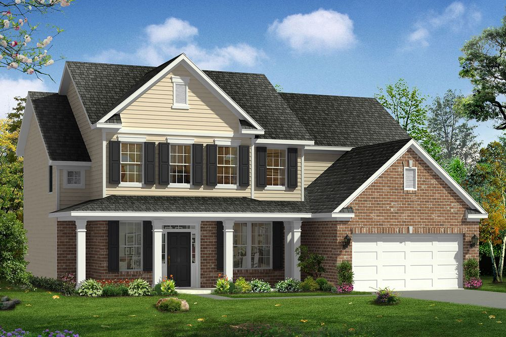 Arlington home plan by dan ryan builders in stonegate for Stonegate farmhouse plans