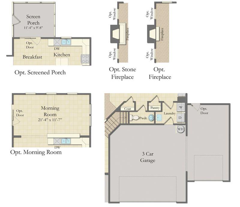 Cameron home plan by dan ryan builders in idlewood village for Idlewood flooring