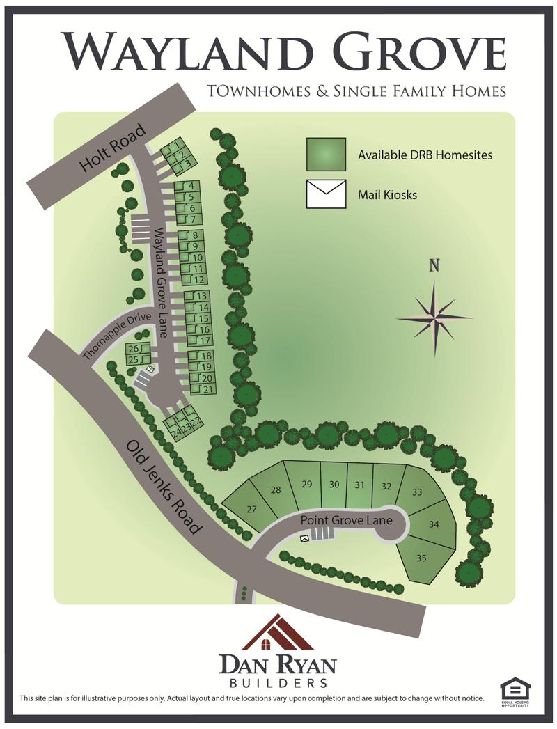 Wayland Grove Site Map