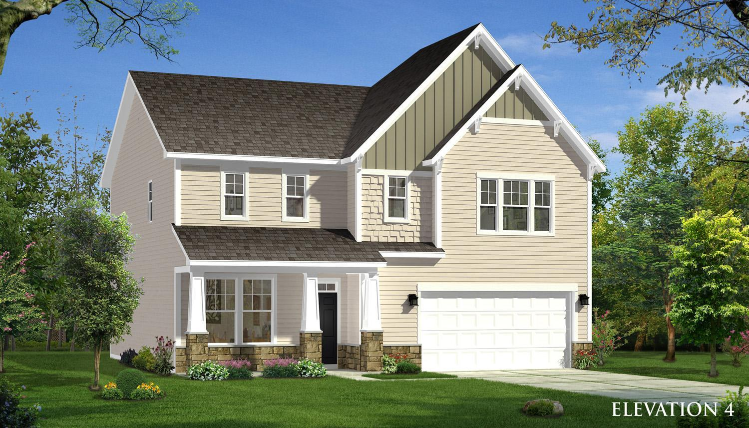 Exterior featured in the Elmhurst  By Dan Ryan Builders in Raleigh-Durham-Chapel Hill, NC