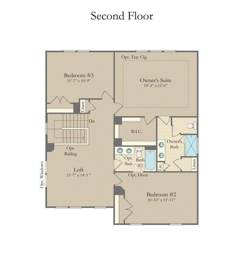Devon Home Plan By Dan Ryan Builders In Raleigh Floorplans