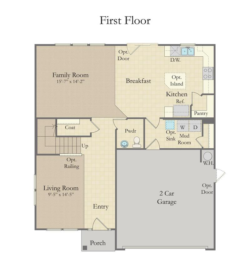 Devon Home Plan By Dan Ryan Builders In Millbridge